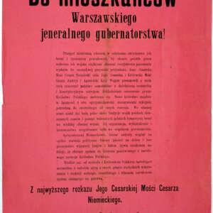 Akt 5 listopada 1916 r., fot. domena publiczna